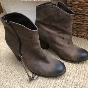 Taupe Aldo booties, size 38.5
